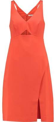 Halston Cutout Crepe Dress