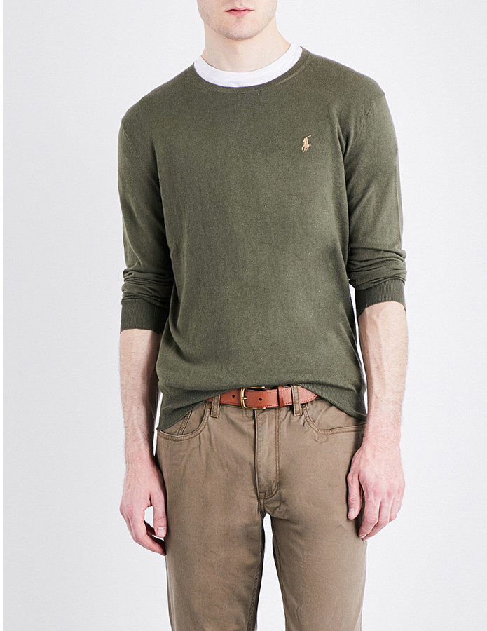 Polo Ralph Lauren Polo Ralph Lauren Crewneck cotton and cashmere-blend jumper