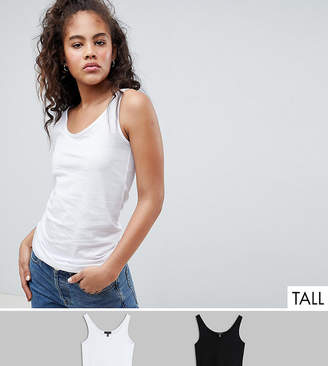New Look Tall 2 Pack Tank Tops