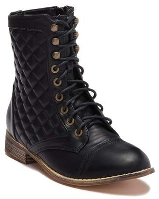 Catherine Malandrino Serena Lace-Up Quilted Boot