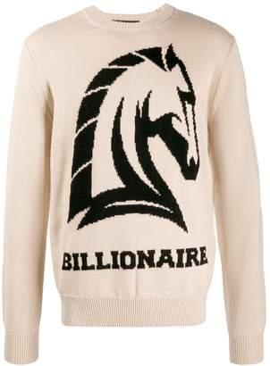 horse intarsia-knit jumper