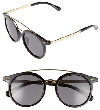 Women's A.j. Morgan 'Loop' 50Mm Retro Sunglasses - Black $24 thestylecure.com