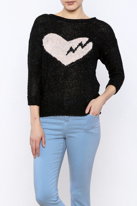 Anne Woodman Broken Heart Pullover $32 thestylecure.com