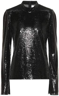 Galvan Galaxy sequinned top