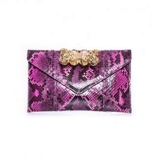 Maison Du Posh Pink Python Clutch bags
