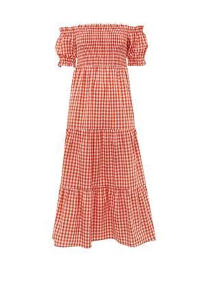 Kitri Alma Gingham Smocked Dress