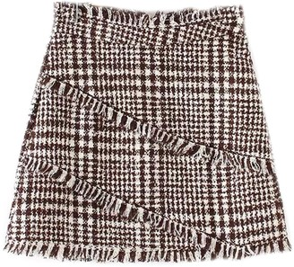 Goodnight Macaroon 'Helen' Houndstooth Tweed Mini Skirt (2 Colors)