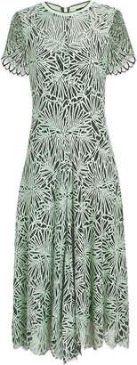 Proenza Schouler Green Lace Midi Dress