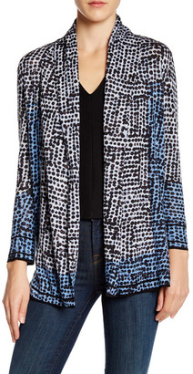 NIC+ZOE Printed Linen Blend Cardigan $144 thestylecure.com