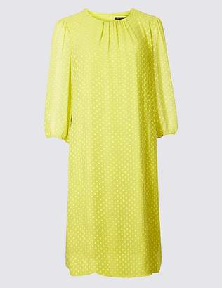 Marks and Spencer Spotted 3/4 Sleeve Tunic Dress