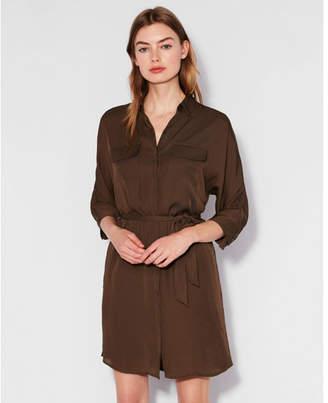 Express dolman sleeve pocket shirt dress
