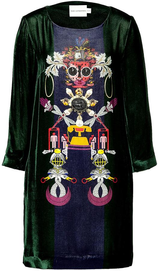 Mary Katrantzou Silk Blend Elio Shift Dress