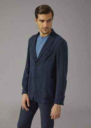 Giorgio Armani Jacket In Cupro