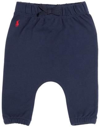 Ralph Lauren Embroidered Logo Cotton Piqué Pants