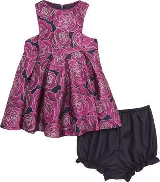 Pippa & Julie Floral Brocade Dress