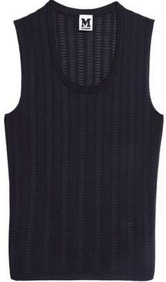 M Missoni Crochet-Knit Wool-Blend Top