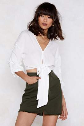 Nasty Gal All Tied Up Ruched Blouse