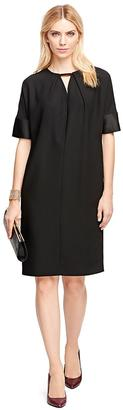 Short-Sleeve Crepe Satin Dress $268 thestylecure.com