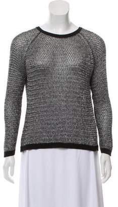 Mason Semi-Sheer Knit Sweater Metallic Semi-Sheer Knit Sweater