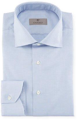Canali Houndstooth Dress Shirt, Blue