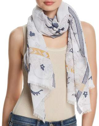 Fraas Floral Scroll Oblong Scarf