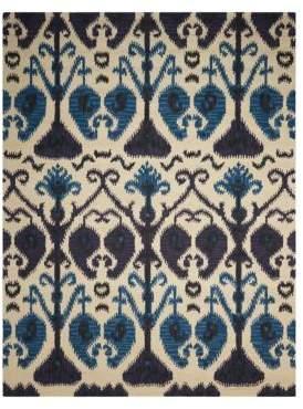 Nourison Rugs Siam Ikat Pattern Wool Rug