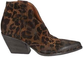 Elena Iachi Leopard Print Ankle Boots