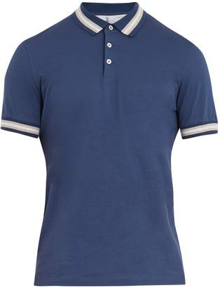 Brunello Cucinelli Point-collar cotton-jersey polo shirt