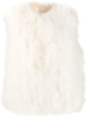 Yves Salomon feathered gilet