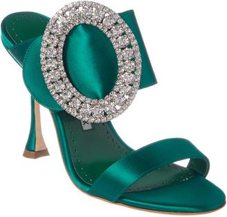 5089eed9cb1 Manolo Blahnik Crystal Embellished Women s Sandals - ShopStyle