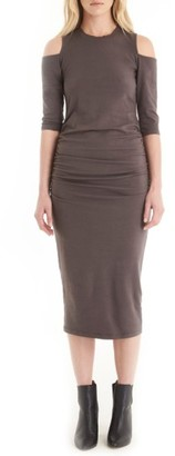 Women's Michael Stars Cold Shoulder Midi Dress $98 thestylecure.com