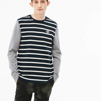 31dbe303c035 Lacoste Men s LIVE Striped Cotton Jersey T-shirt
