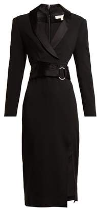 Jonathan Simkhai Tuxedo Style Crepe Dress - Womens - Black