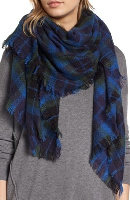 Women's Treasure & Bond Plaid Blanket Wrap $45 thestylecure.com