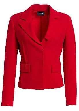 Akris Women's Crepe Waist Seam Lapel Collar Jacket
