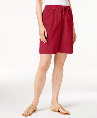 Karen Scott Lisa Pull-On Cotton Shorts, Created for Macy's $32.50 thestylecure.com