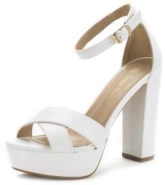 DREAM PAIRS HI-GO New Women's Evening Dress Ankle Strap Buckle Peep Toe Chunky High Heel Platform Pump Shoes Size 10