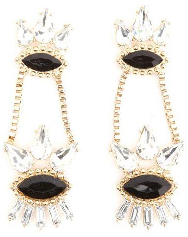 Charlotte Russe Faceted Gem Drop Earrings