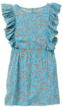 Harper Canyon Print Ruffle Woven Dress (Toddler & Little Girls)