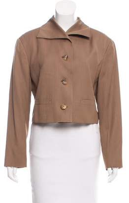 Issey Miyake Cropped Wool Jacket