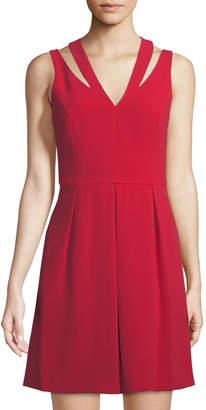 Cynthia Steffe Cece By Mini Fit-&-Flare Cutout Dress