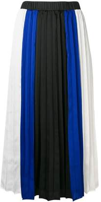 DKNY striped pleated skirt