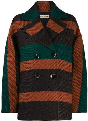 Ulla Johnson striped double-breasted jacket