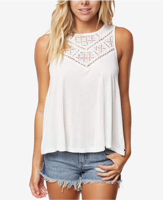O'Neill Juniors' Charline Crochet-Trimmed Tank Top
