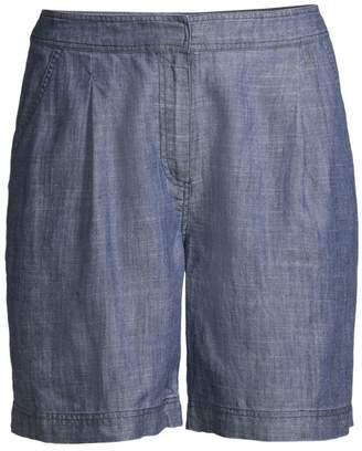 6f72189c5d0 Trina Turk Tourist High-Waist Fleet 2 Chambray Shorts