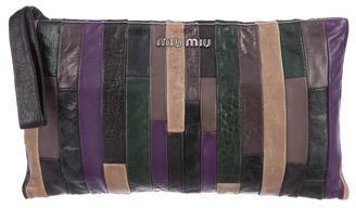 Miu MiuMiu Miu Colorblock Leather Clutch