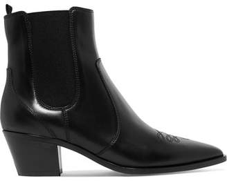 Gianvito Rossi Austin 45 Leather Chelsea Boots - Black