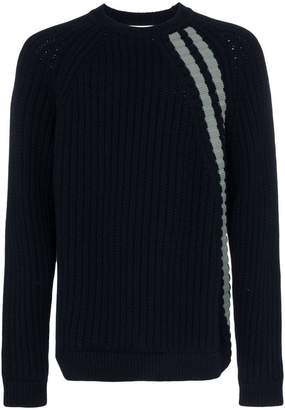 Jil Sander crew sweater with stripe detail