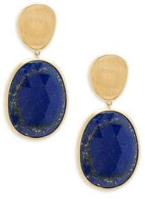 Marco Bicego Lunaria Lapis and 18K Yellow Gold Double Drop Earrings