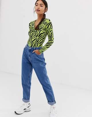 Bershka mom jean in blue
